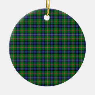 Clan Jones Tartan Double-Sided Ceramic Round Christmas Ornament