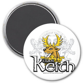 Clan Keith 3 Inch Round Magnet