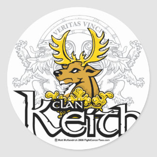 Clan Keith Classic Round Sticker