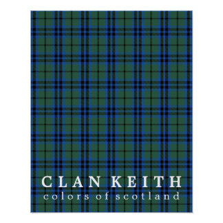 Clan Keith Colors of Scotland Tartan Poster