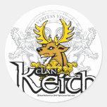 Clan Keith Etiquetas Redondas