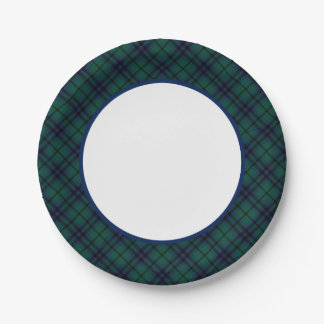 Clan Keith Modern Tartan Border Paper Plate