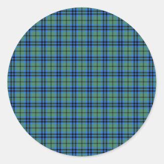 Clan Keith Tartan Classic Round Sticker