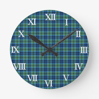 Clan Keith Tartan Round Clocks