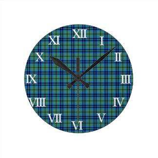 Clan Keith Tartan Round Clock