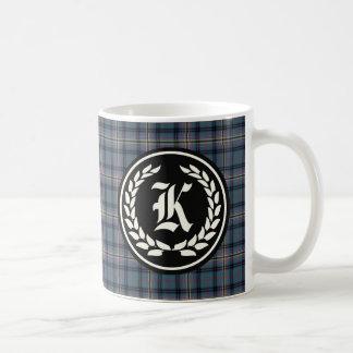 Clan Kennedy Ancient Tartan Monogram Coffee Mug