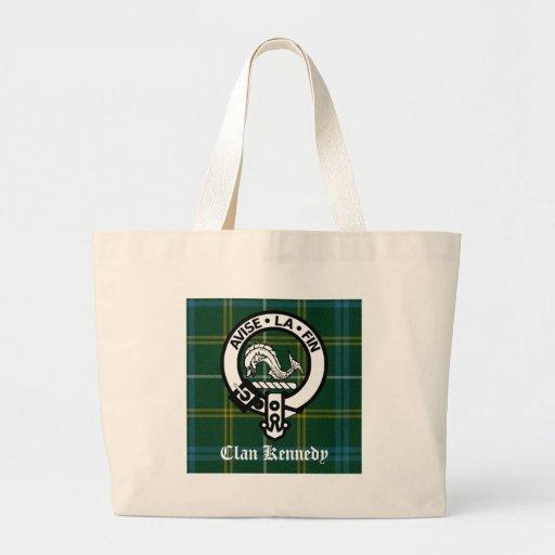 Clan Kennedy Crest Tartan Canvas Bag