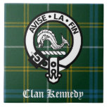 Clan Kennedy Crest Tartan Ceramic Tile