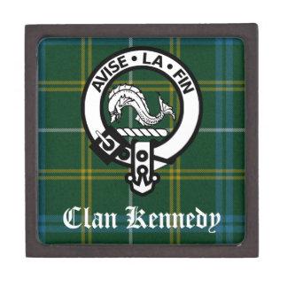 Clan Kennedy Crest Tartan Keepsake Box