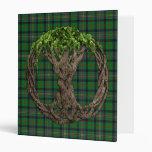Clan Kennedy Tartan And Celtic Tree Of Life Vinyl Binder
