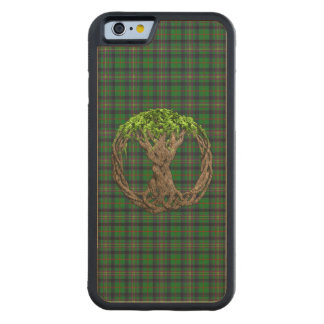 Clan Kennedy Tartan And Celtic Tree Of Life Carved® Maple iPhone 6 Bumper Case