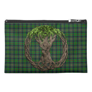 Clan Kennedy Tartan And Celtic Tree Of Life Travel Accessory Bag