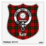 Clan Kerr Crest and Tartan Wall Decal