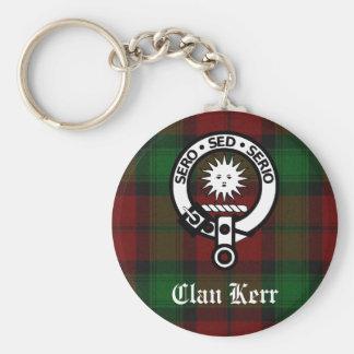 Clan Kerr Crest Badge Tartan Keychain