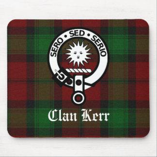 Clan Kerr Crest Badge Tartan Mouse Pad