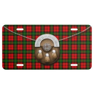 Clan Kerr Tartan And Sporran License Plate