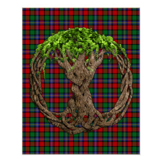 Clan Kilgore Tartan And Celtic Tree Of Life Poster