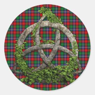 Clan Kilgore Tartan Celtic Trinity Classic Round Sticker