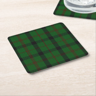 Clan Kincaid Plaid Paper Coasters Square Paper Coaster