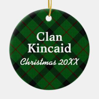 Clan Kincaid Scottish Tartan Ceramic Ornament