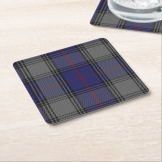 Clan Kinnaird Plaid Paper Coasters Square Paper Coaster