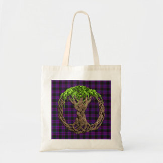 Clan Laird Tartan And Celtic Tree Of Life Tote Bag