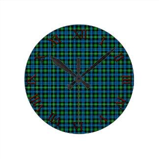 Clan Lamont Tartan Round Clock