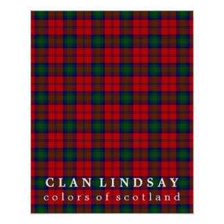 Clan Lindsay Colors of Scotland Tartan Poster