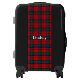Clan Lindsay Lindsey Tartan Customize Your Name Luggage