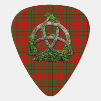 Clan Livingstone Tartan Celtic Trinity Guitar Pick