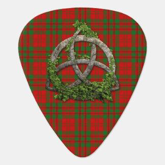 Clan Livingstone Tartan Celtic Trinity Guitar Pick