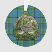 Clan Lockhart Tartan Celtic Trinity