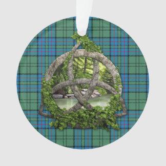 Clan Lockhart Tartan Celtic Trinity Ornament