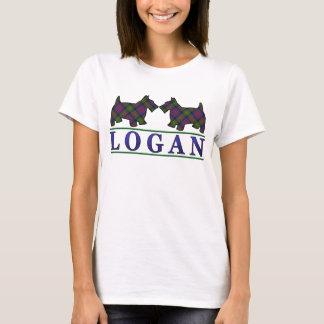 Clan Logan Tartan Scottie Dogs T-Shirt