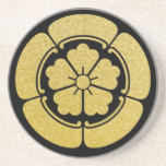 Clan lunes o Kamon (negro/oro) del Oda Posavasos Cerveza