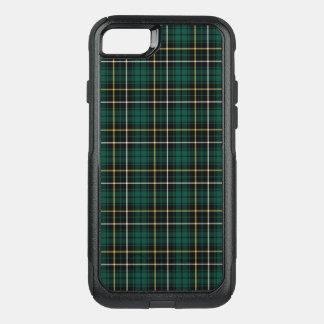 Clan MacAlpine Tartan Forest Green and Black Plaid OtterBox Commuter iPhone 7 Case