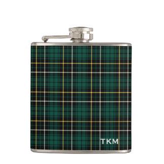 Clan MacAlpine Tartan Monogram Flask
