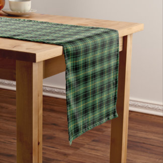 Clan MacArthur Black and Green Scottish Tartan Short Table Runner
