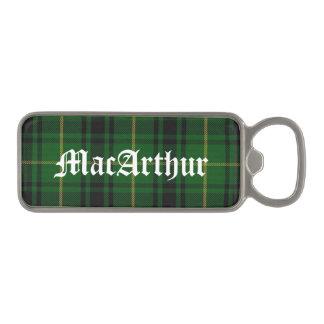 Clan MacArthur Plaid Bottle Opener
