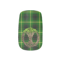 Clan MacArthur Tartan And Celtic Tree Of Life Minx Nail Wraps