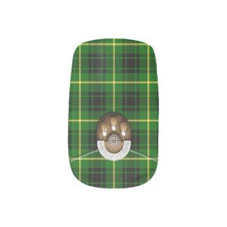 Clan MacArthur Tartan And Sporran Minx Nail Wraps