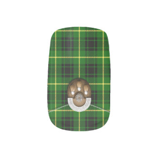 Clan MacArthur Tartan And Sporran Minx® Nail Wraps