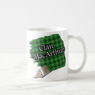 Clan MacArthur Tartan Paint Brush Cup Mug
