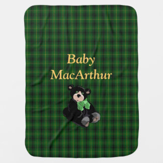 Clan MacArthur Tartan Plaid Baby Blanket
