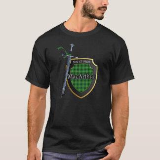 Clan MacArthur Tartan Scottish Shield & Sword T-Shirt
