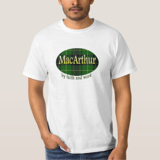 Clan MacArthur with plaid T-Shirt