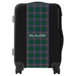 Clan MacAuliffe Tartan Customize Your Name Luggage