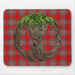 Clan MacBean Tartan And Celtic Tree Of Life Mousepad