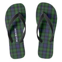 Clan MacBride Plaid Personalized Flip Flops