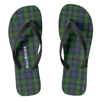 Clan MacBride Plaid Personalized Flip Flops